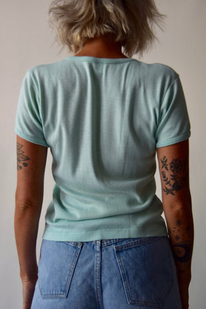 Vintage 70's Sexy Thing Minty Green T-Shirt