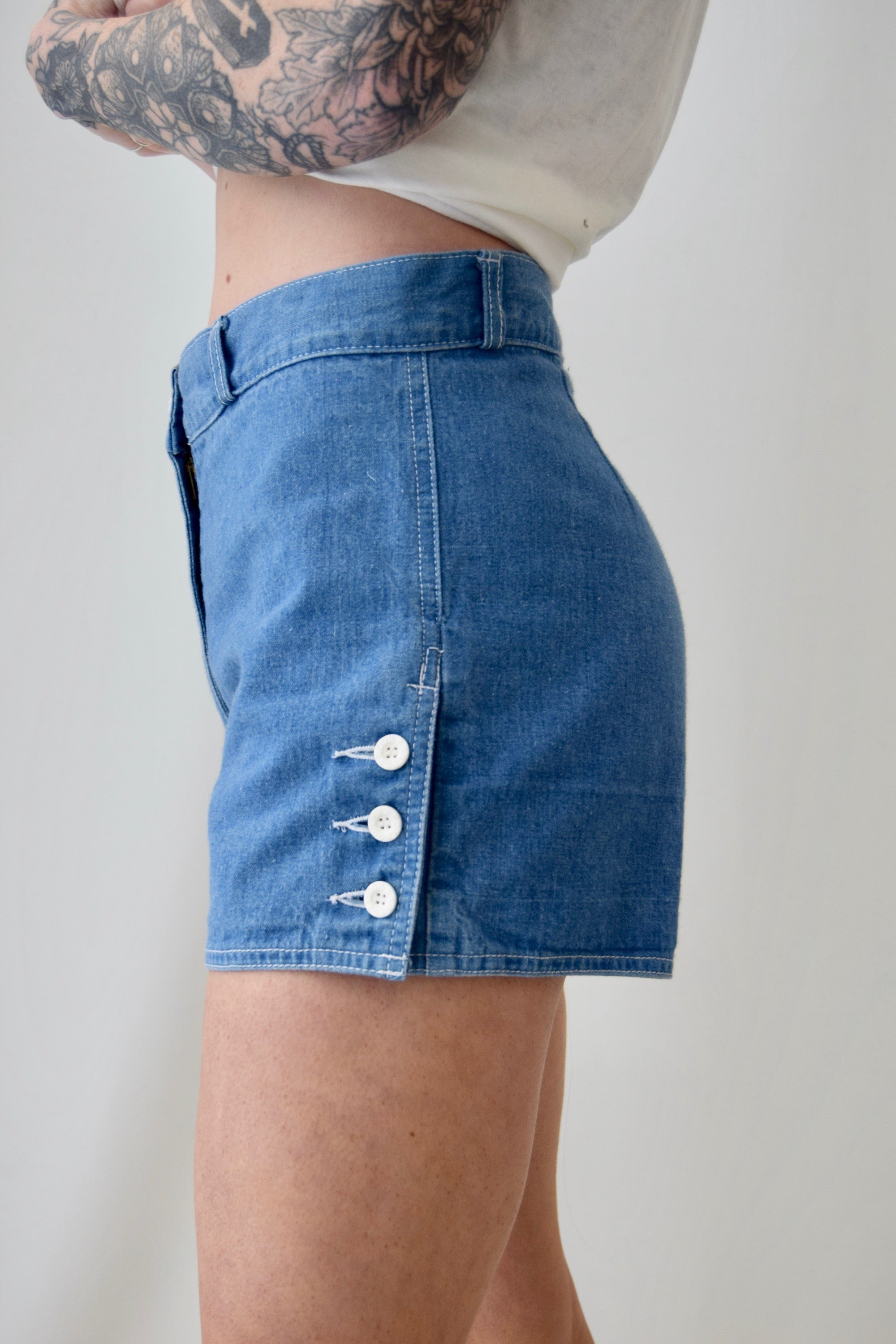 Vintage Aye Aye Sailor Denim Shorts