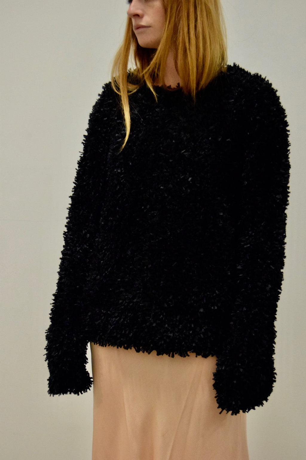 Heavy Black Textured Max Mara Knit