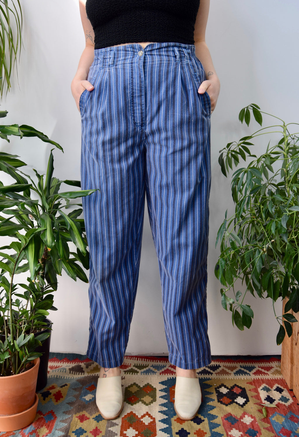 Striped Cotton Trousers