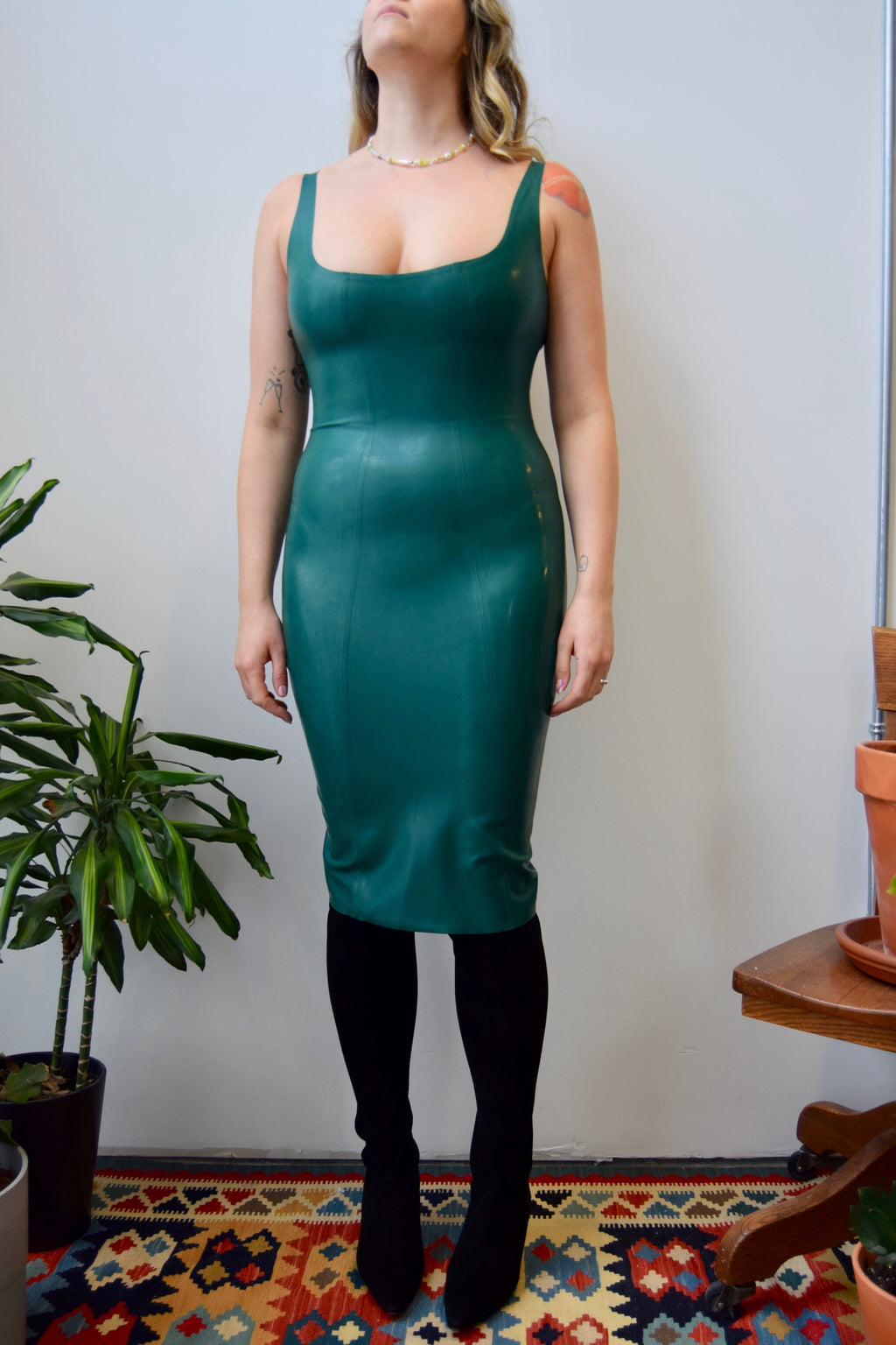 Kelly Green Latex Dress