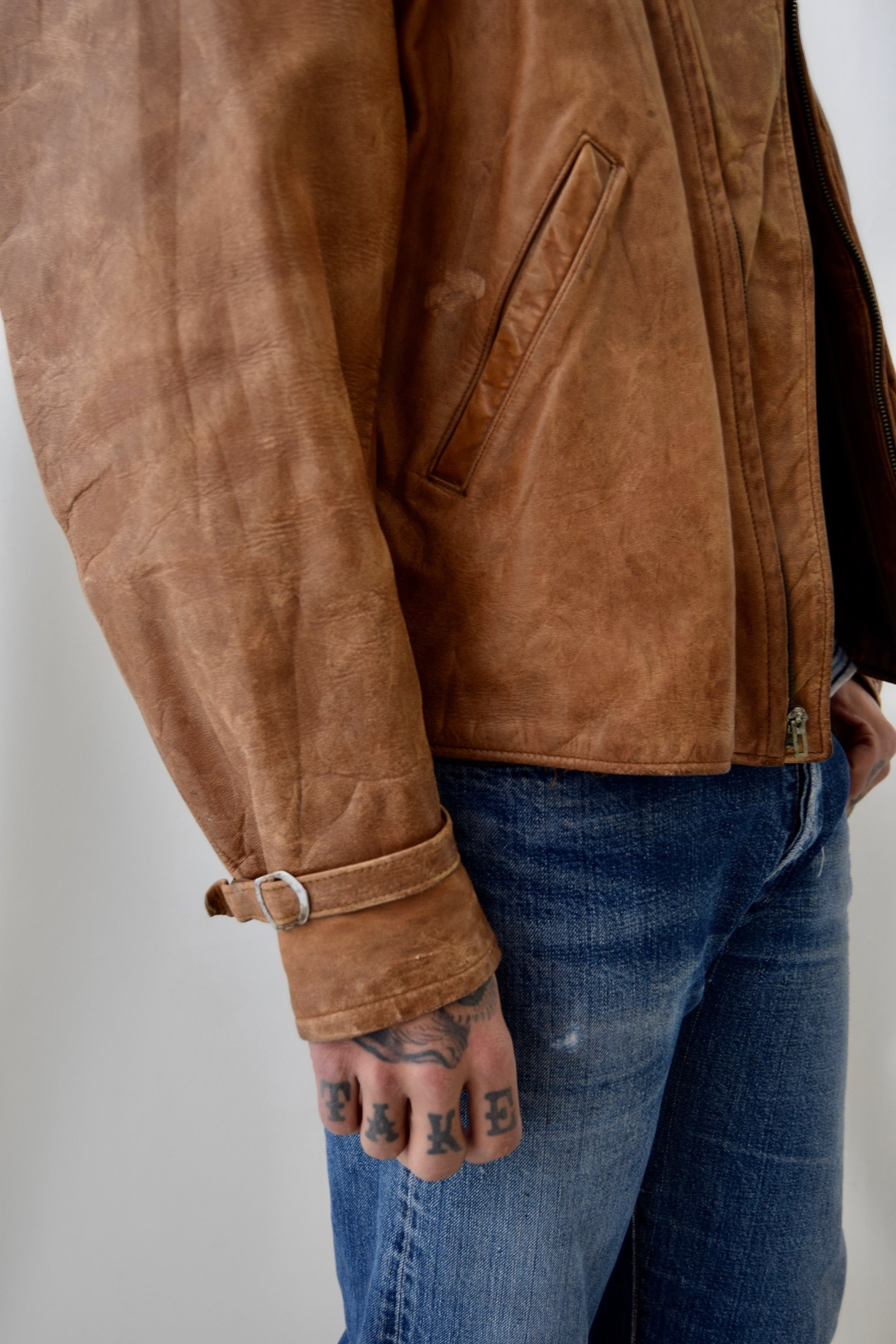 Vintage 1930's/1940's Topline Sportswear Leather Jacket