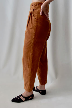 """Almost Heaven"" Golden Corduroy Trousers"