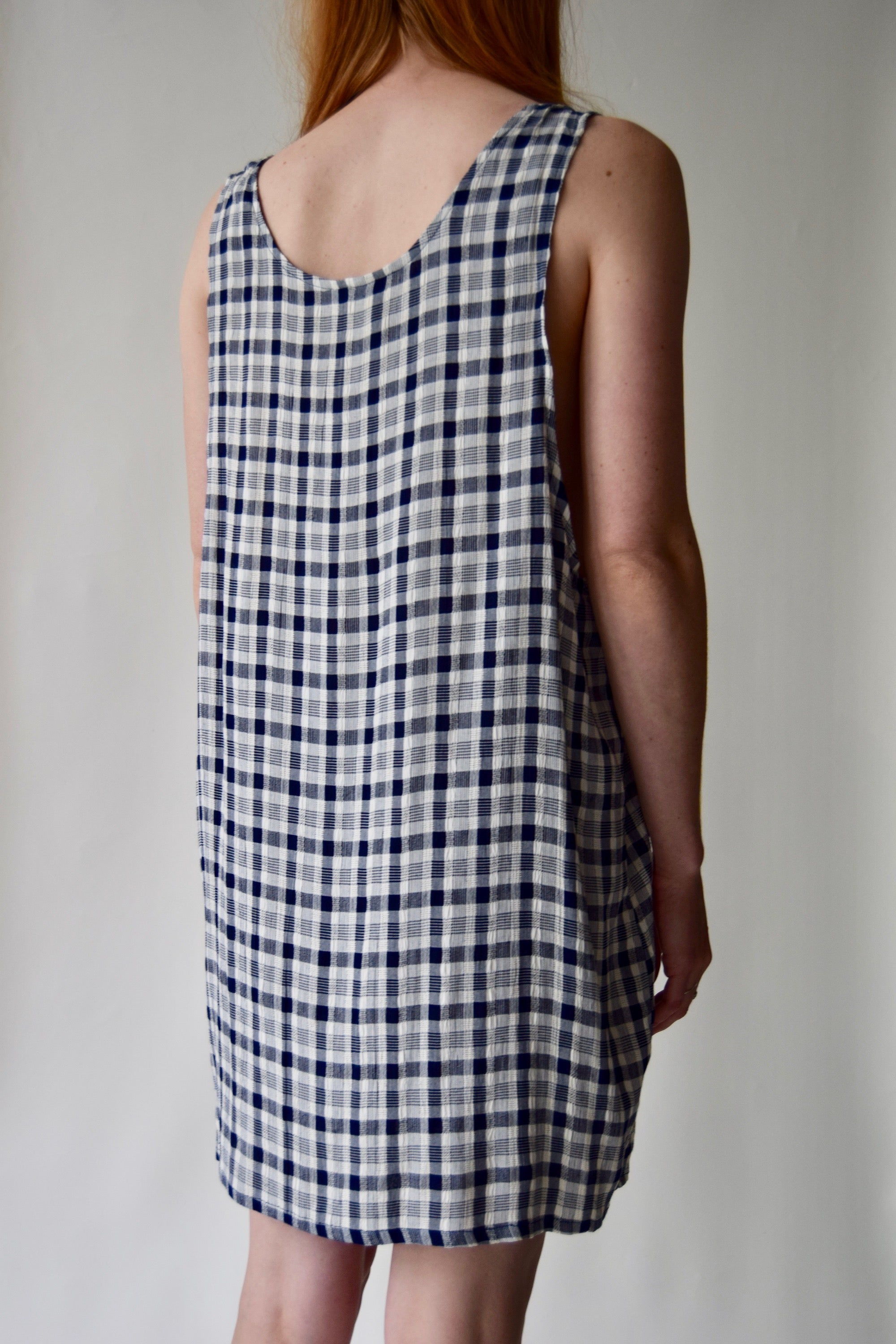 Navy and White Picnic Inspired Summer Dress