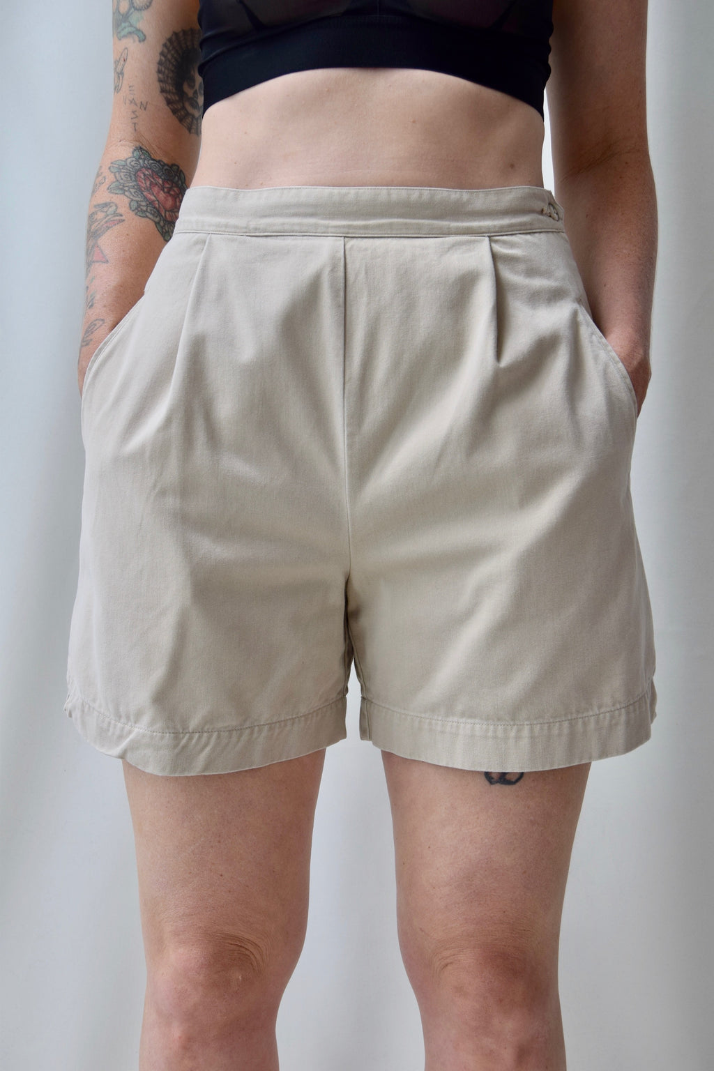 Izod Khaki High Waisted Shorts