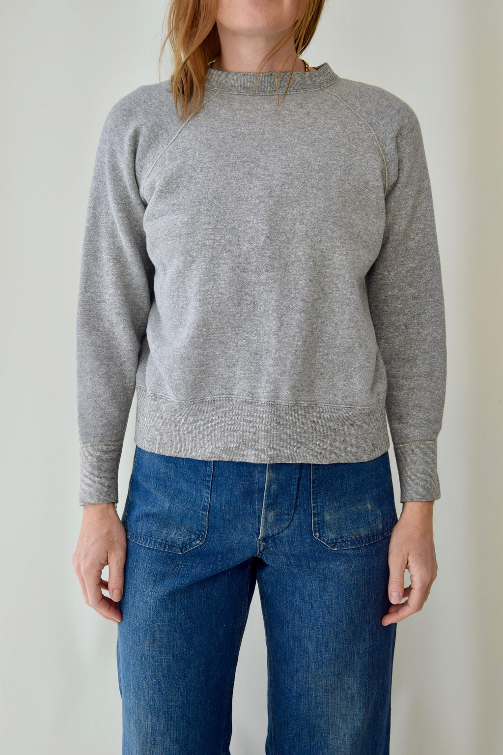 Perfect Cotton Heather Grey 1960's Flagg Utica Bodygard Sweatshirt