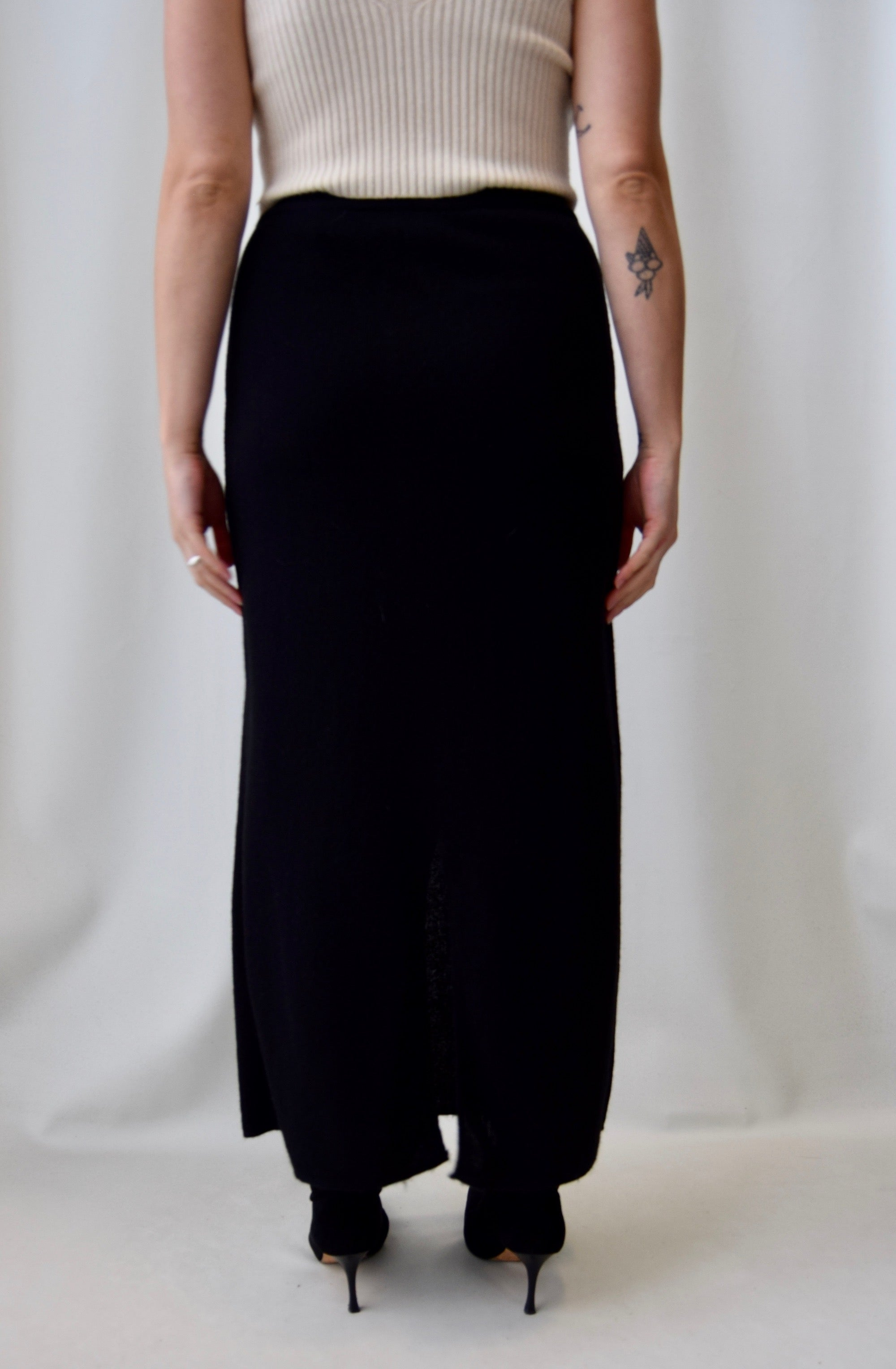 Alpaca Wool Maxi Skirt