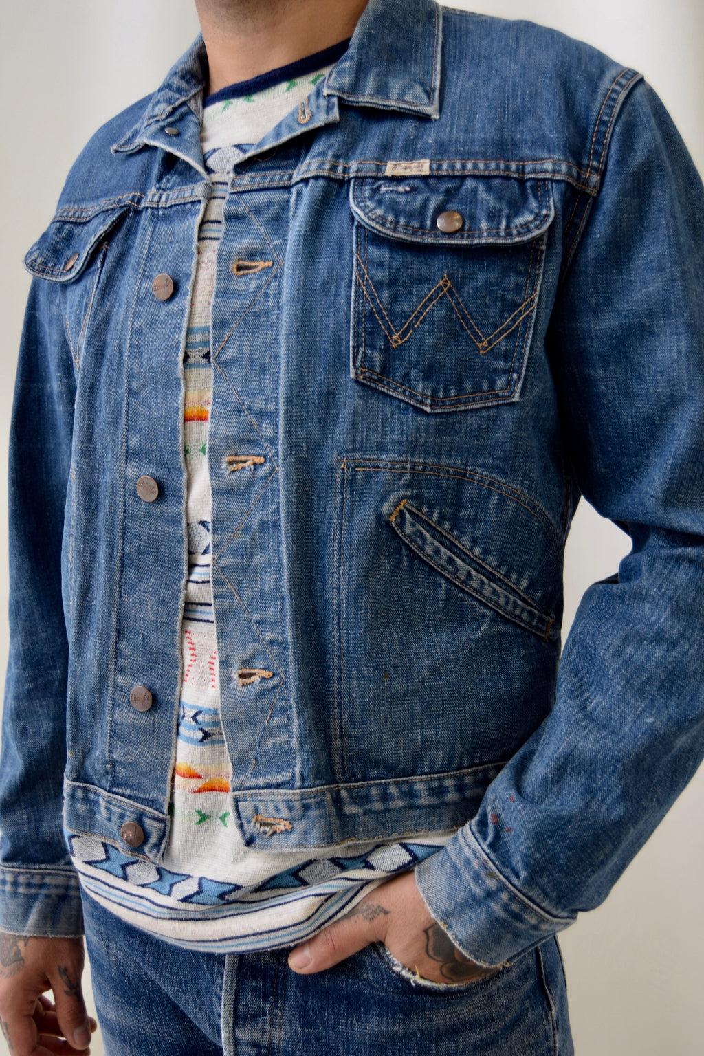 Vintage 1960's Rodeo Club Wrangler Denim Jacket