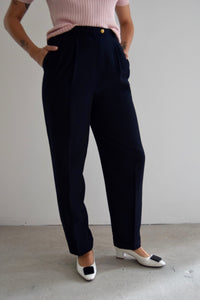 Ralph Lauren French Navy Wool Trousers