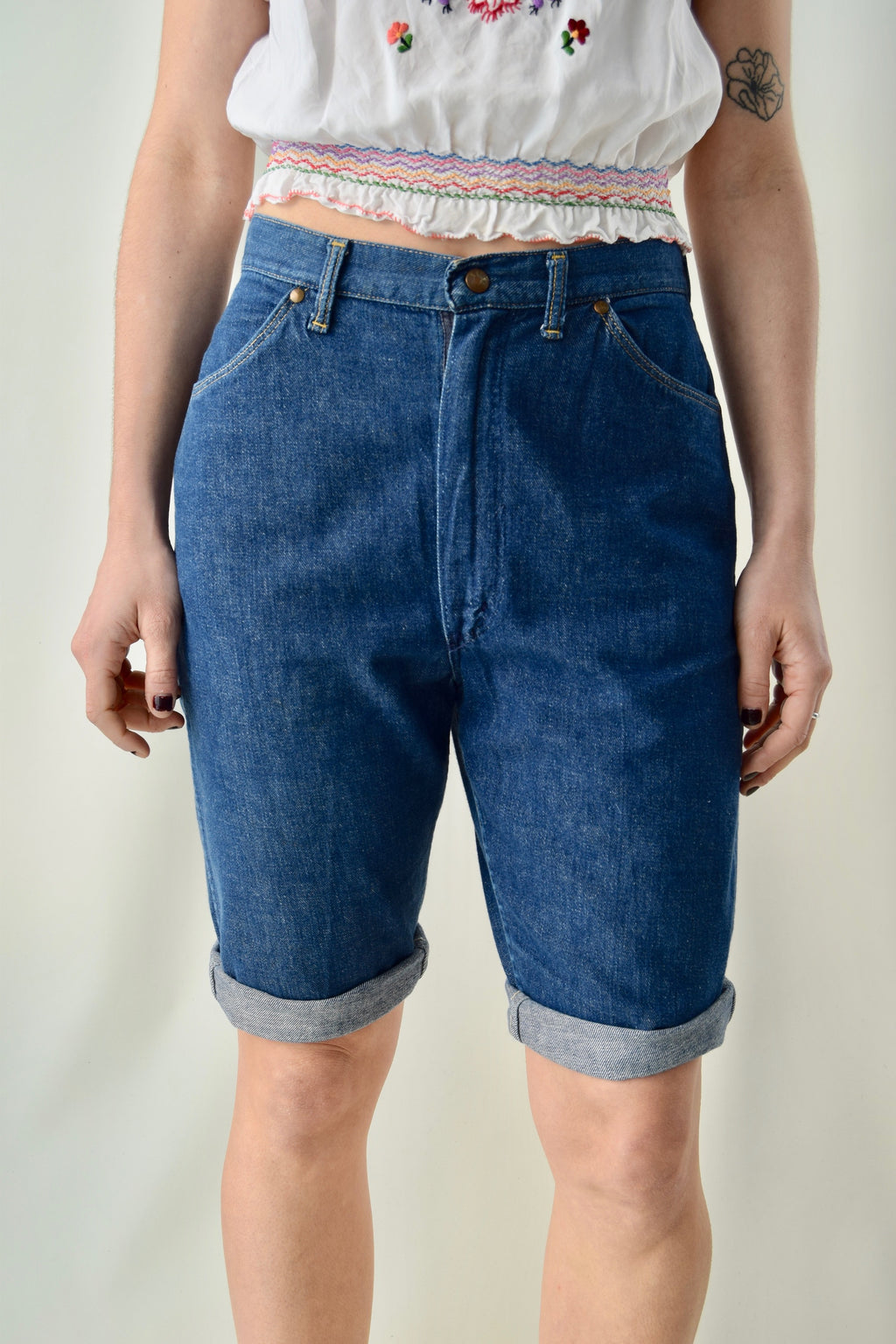 Vintage Blue Bell Misses Denim Shorts FREE SHIPPING TO THE U.S.