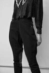 Vintage Charcoal Riding Trousers