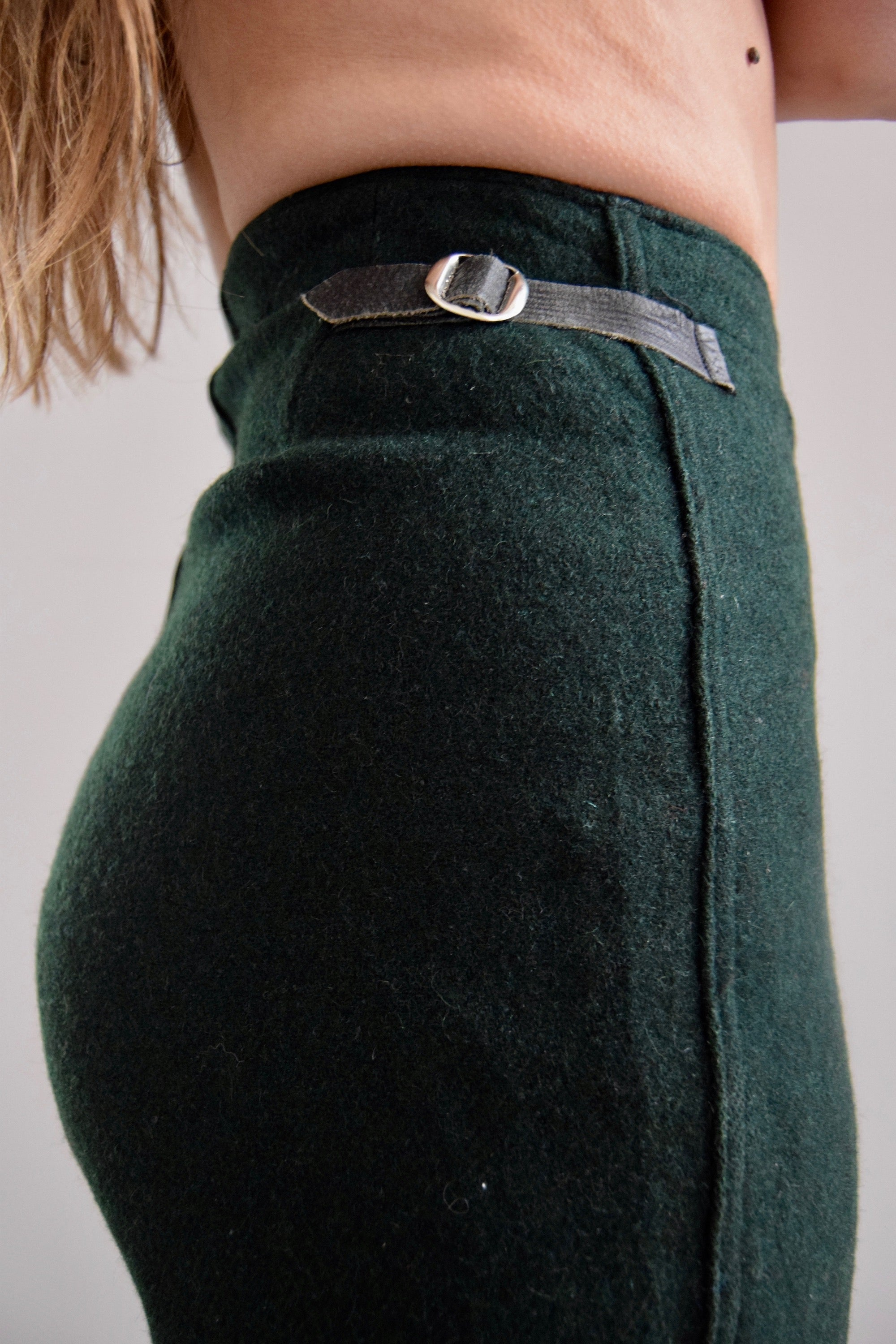 Vintage 1930's Green Wool Ski Pants