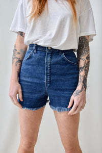 70's Dark Wash Cut Offs