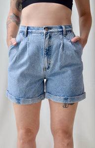 Denim Bill Blass Cuffed Shorts