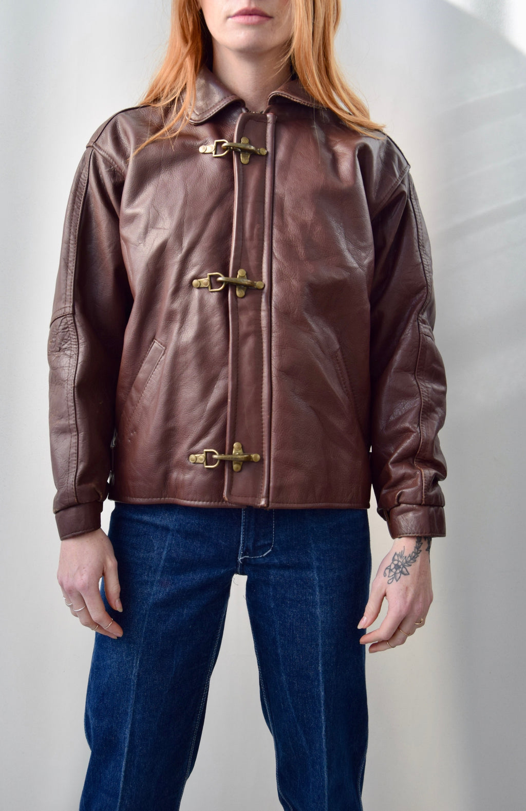 40's Inspired Leather Jacket