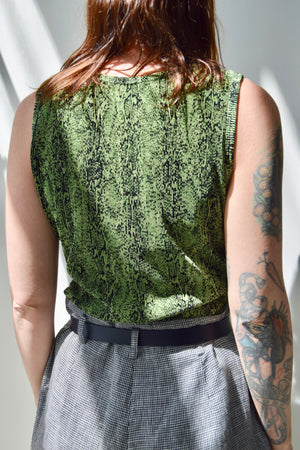 Pleated Slime Snake Top