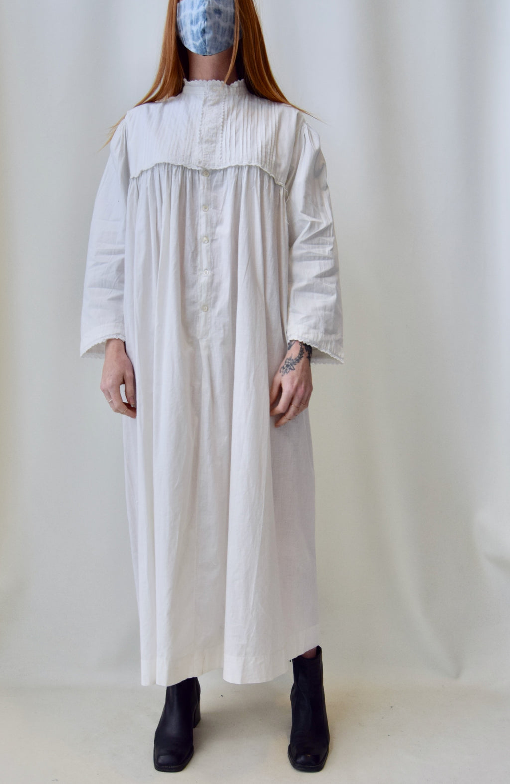 Antique Eyelet Cotton Nightgown