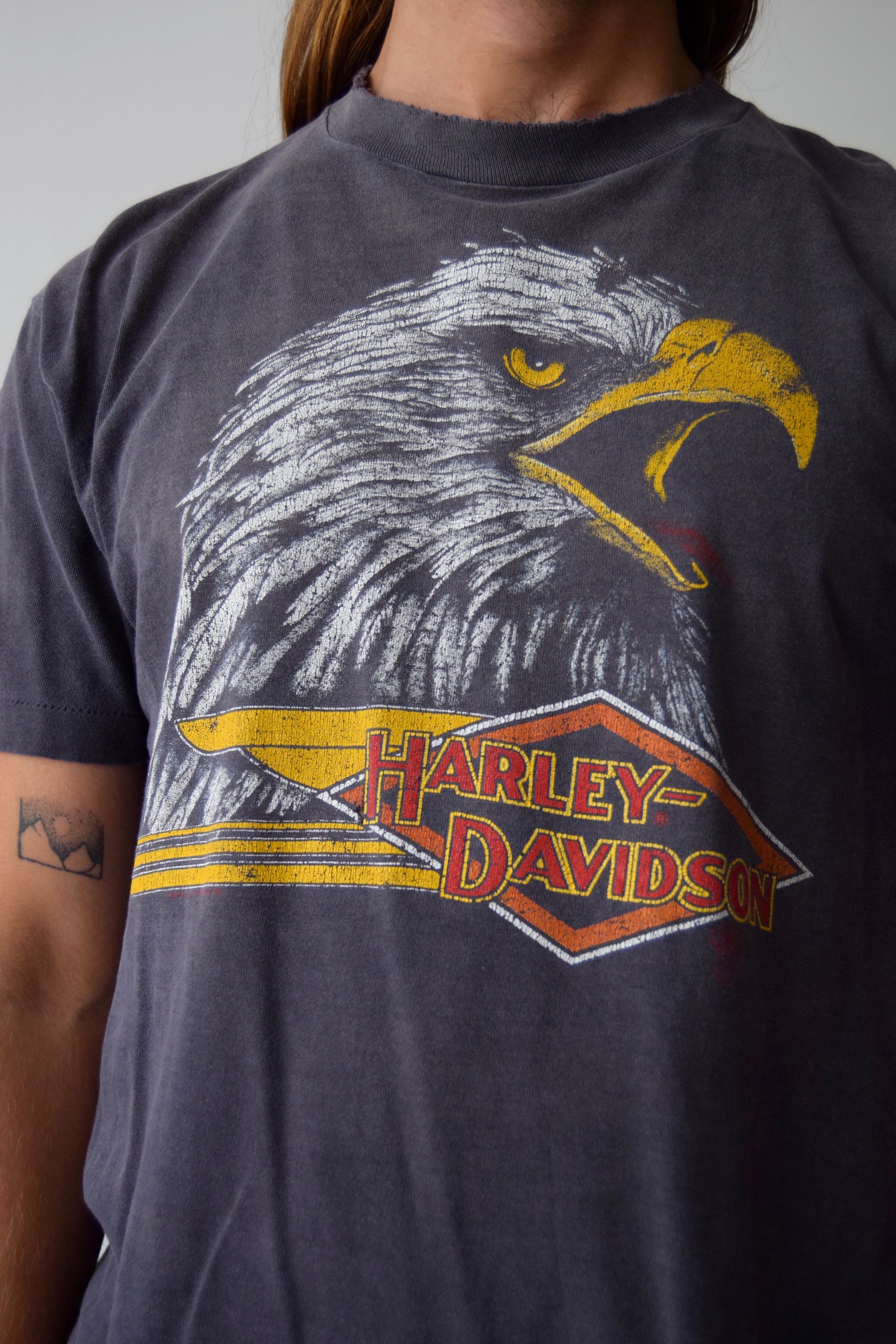 Vintage 1986 Harley Davidson Screeching Eagle T-Shirt FREE SHIPPING TO THE U.S.