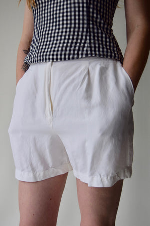 White Silk and Linen Dream Shorts