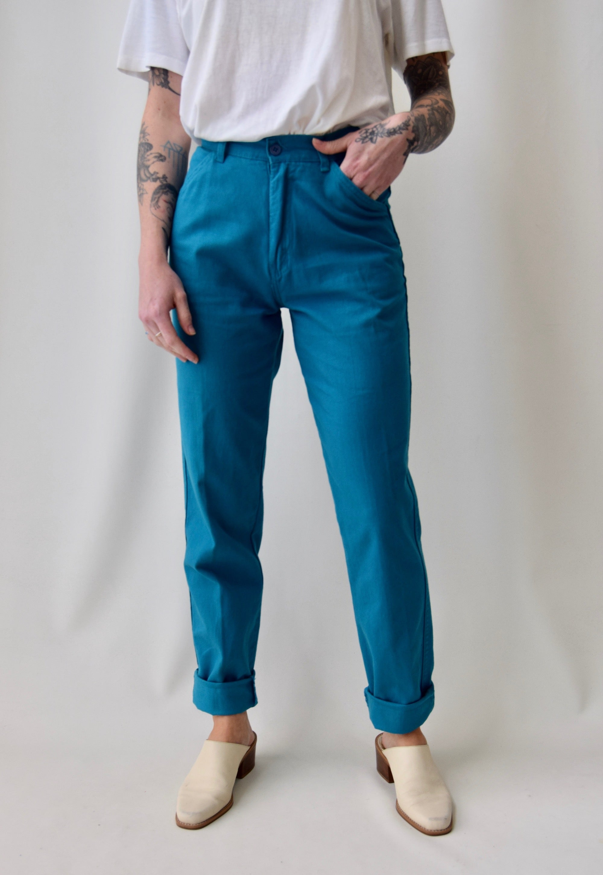 Teal Everyday Trousers