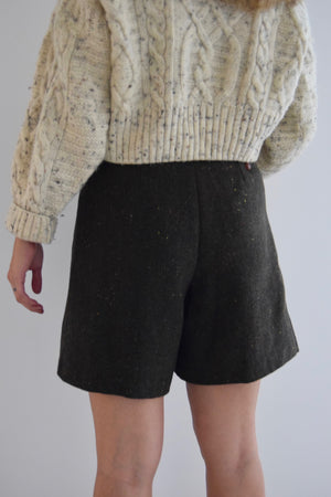 Confetti Moss Wool Trouser Shorts FREE SHIPPING