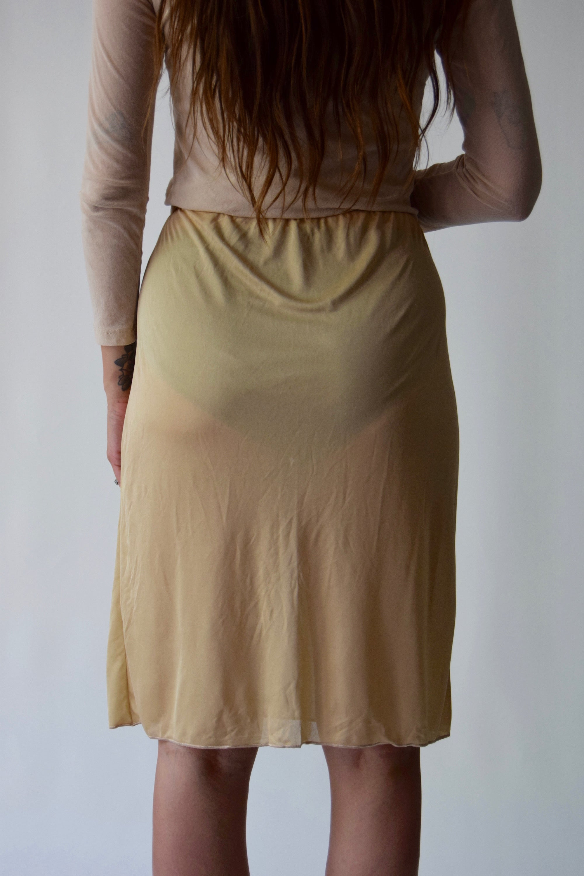 Sheer Butter Designer Missoni Skirt FREE SHIPPING TO THE U.S.
