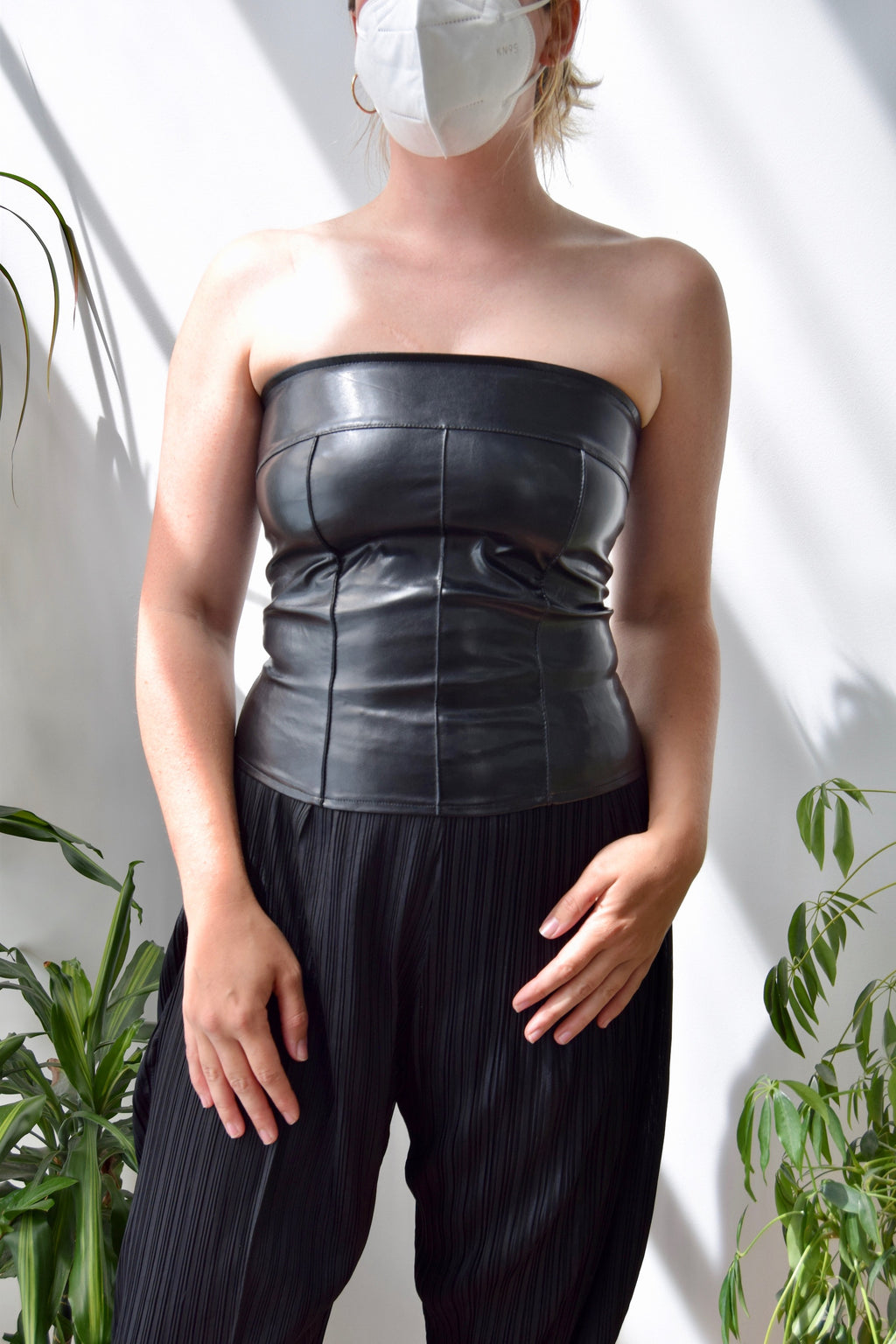 00's Pleather Bustier