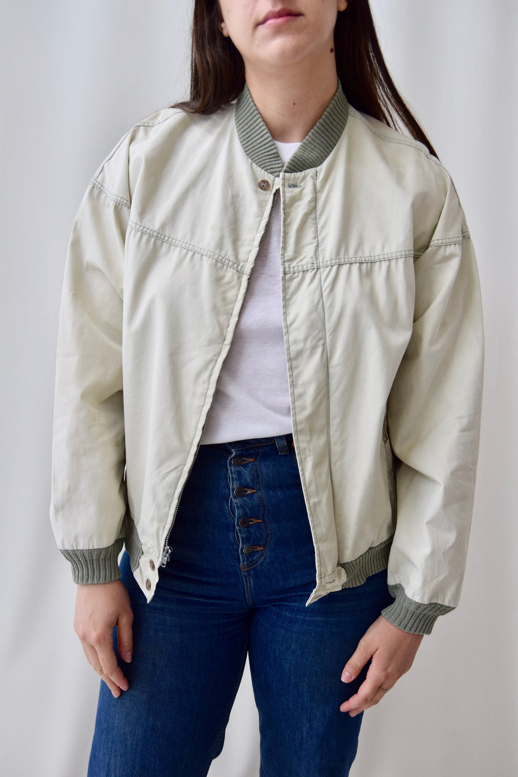 50's Dusty Moss Canvas Jacket