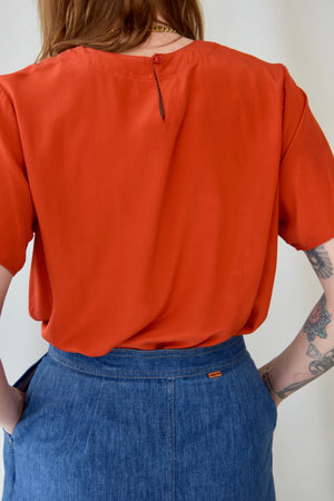 Pumpkin Silk T-Shirt