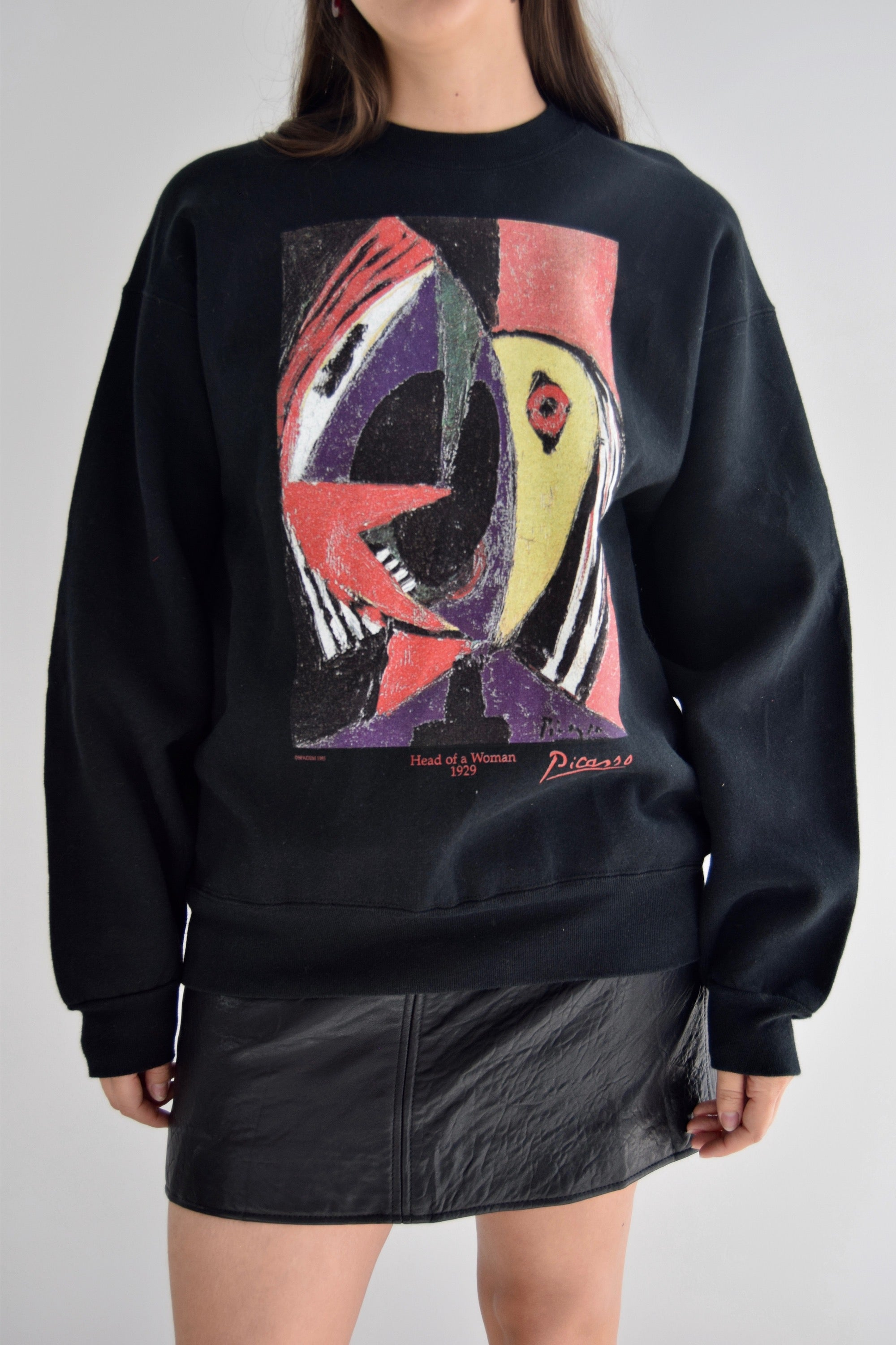 Vintage Pablo Picasso Head of a Woman Crewneck Sweatshirt