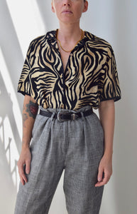 Sandy Silk Zebra Top