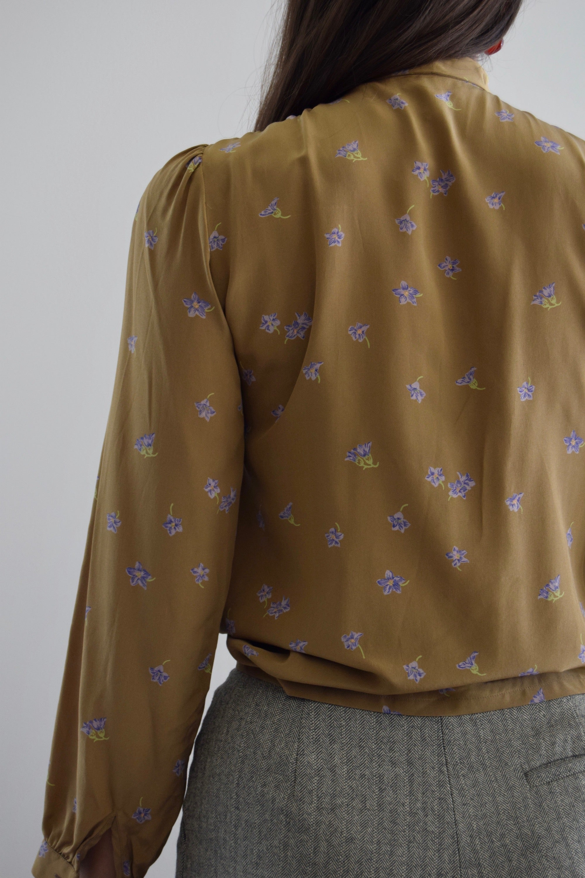 Brown Sugar Floral Silk Top