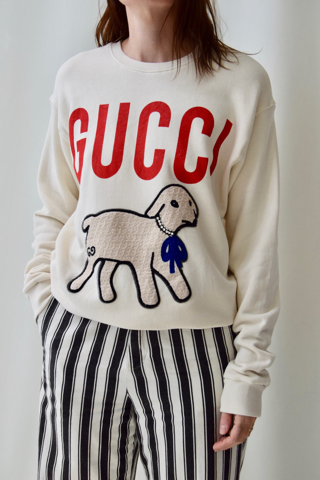 Gucci Sweatshirt With Lamb Applique