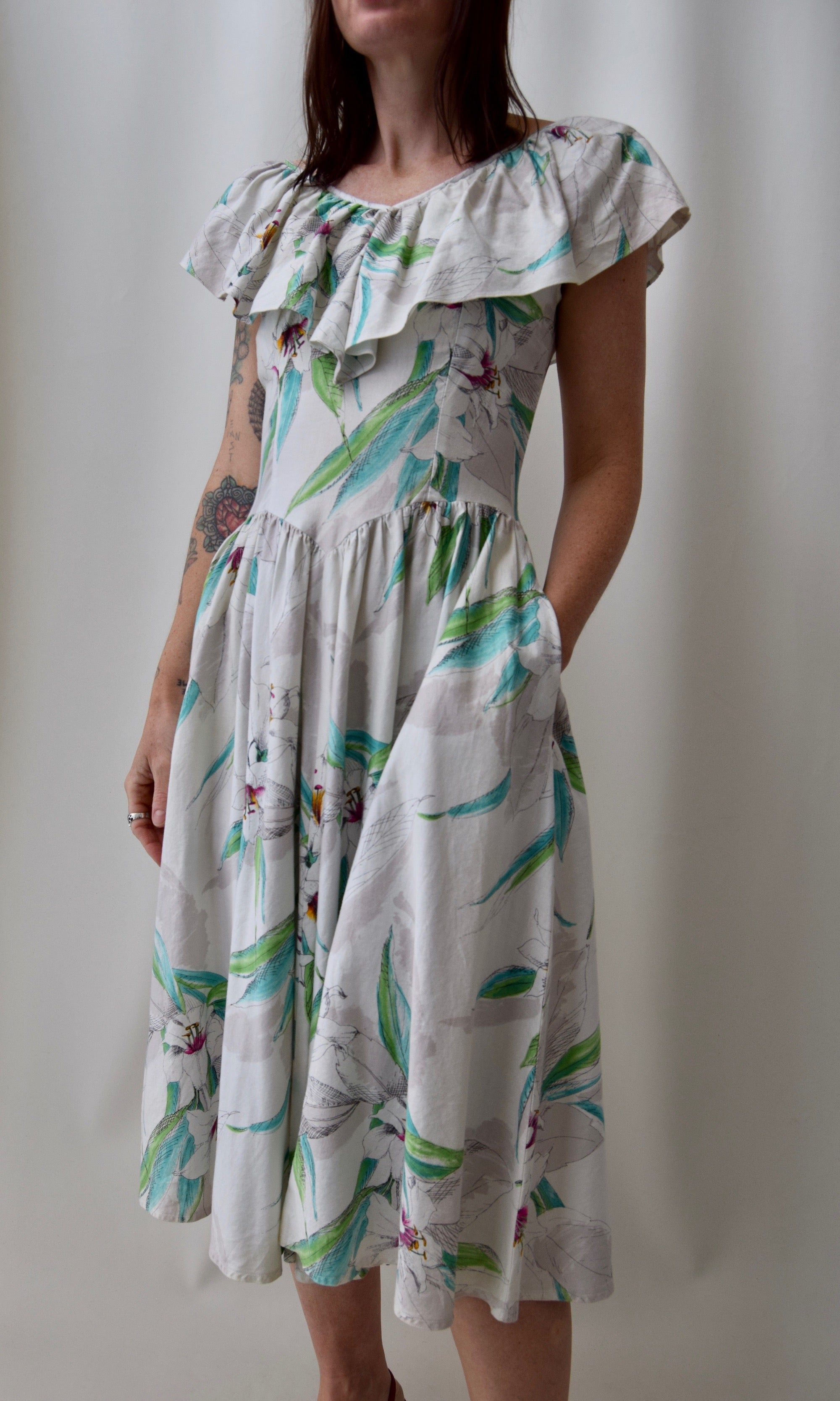 Ruffled Lily Summer Dress