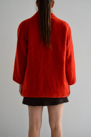 Courreges Cardinal Red Wool Coat