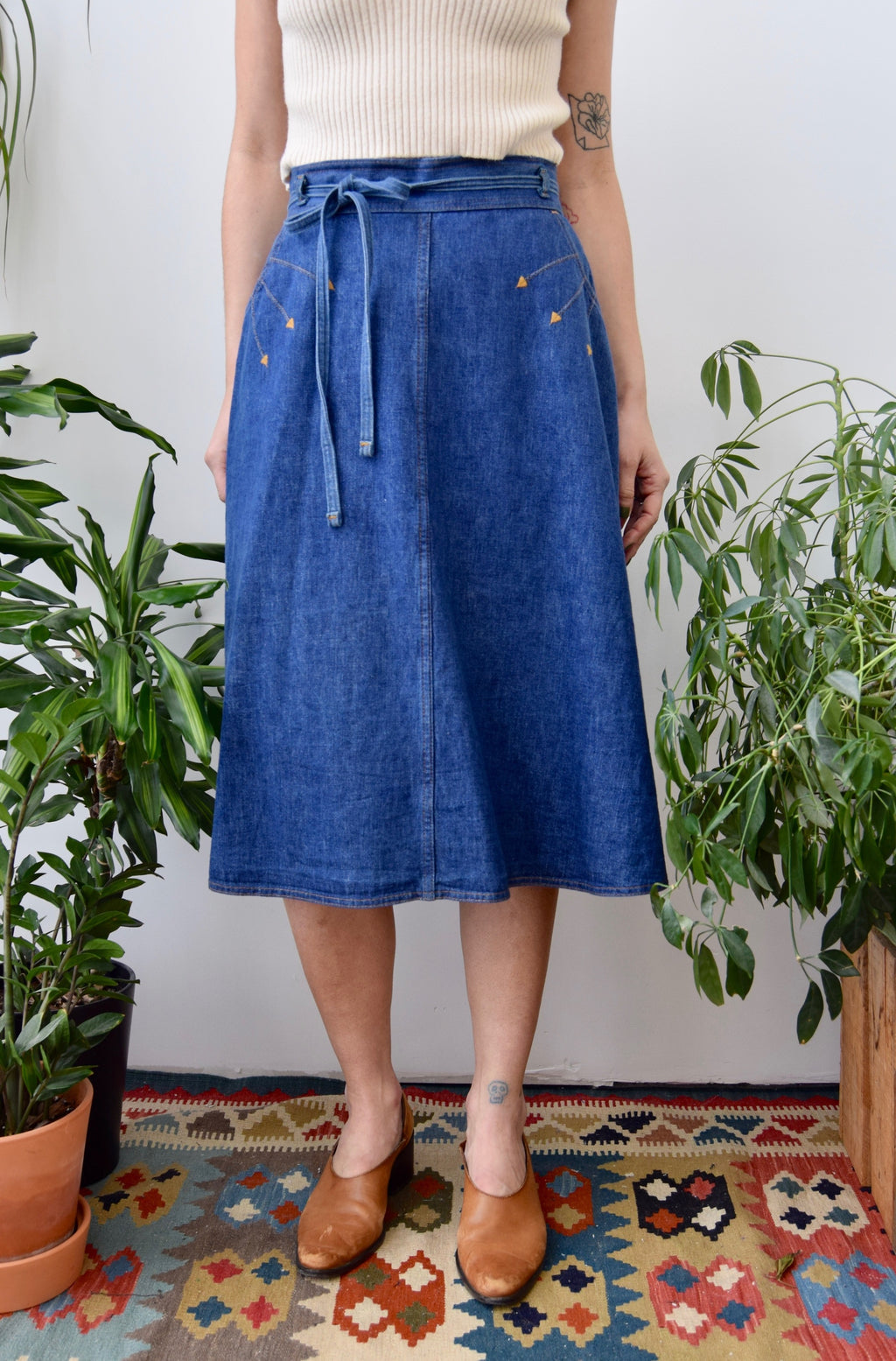 "Seventies ""Levis"" Denim Wrap Skirt"