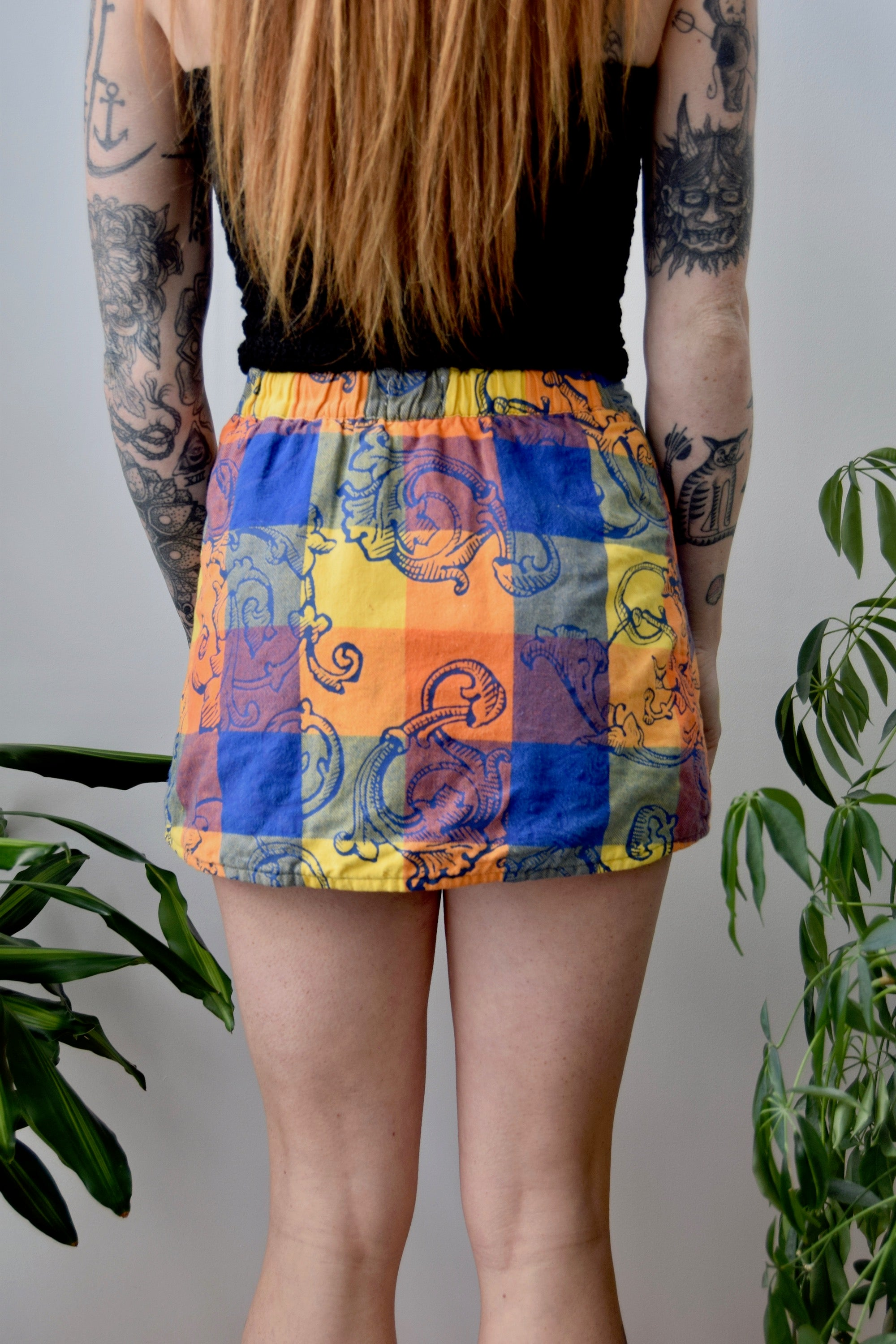 Designer Quilted Mini Skirt