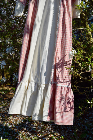 "1970's Vintage ""Gunne Sax"" Rose Gingham Dress"