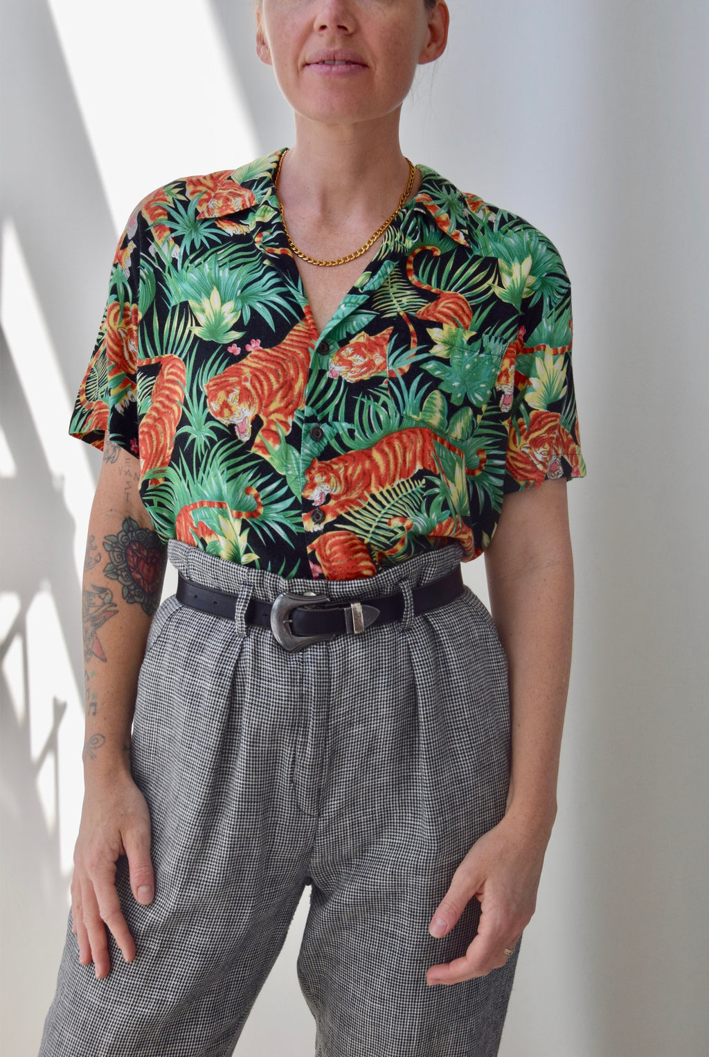 Tropic and Tiger Rayon Button Up