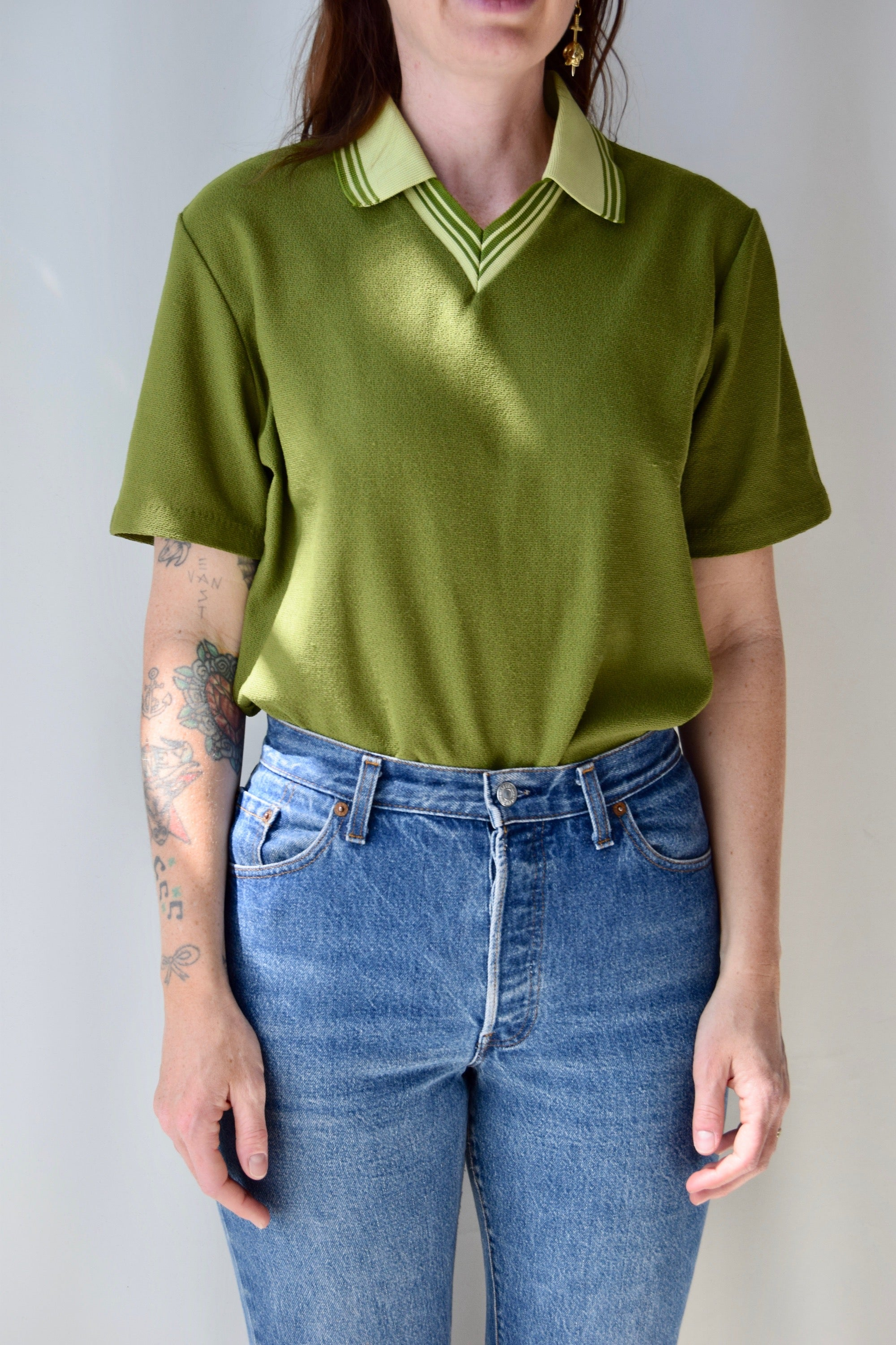70's Olive Polo