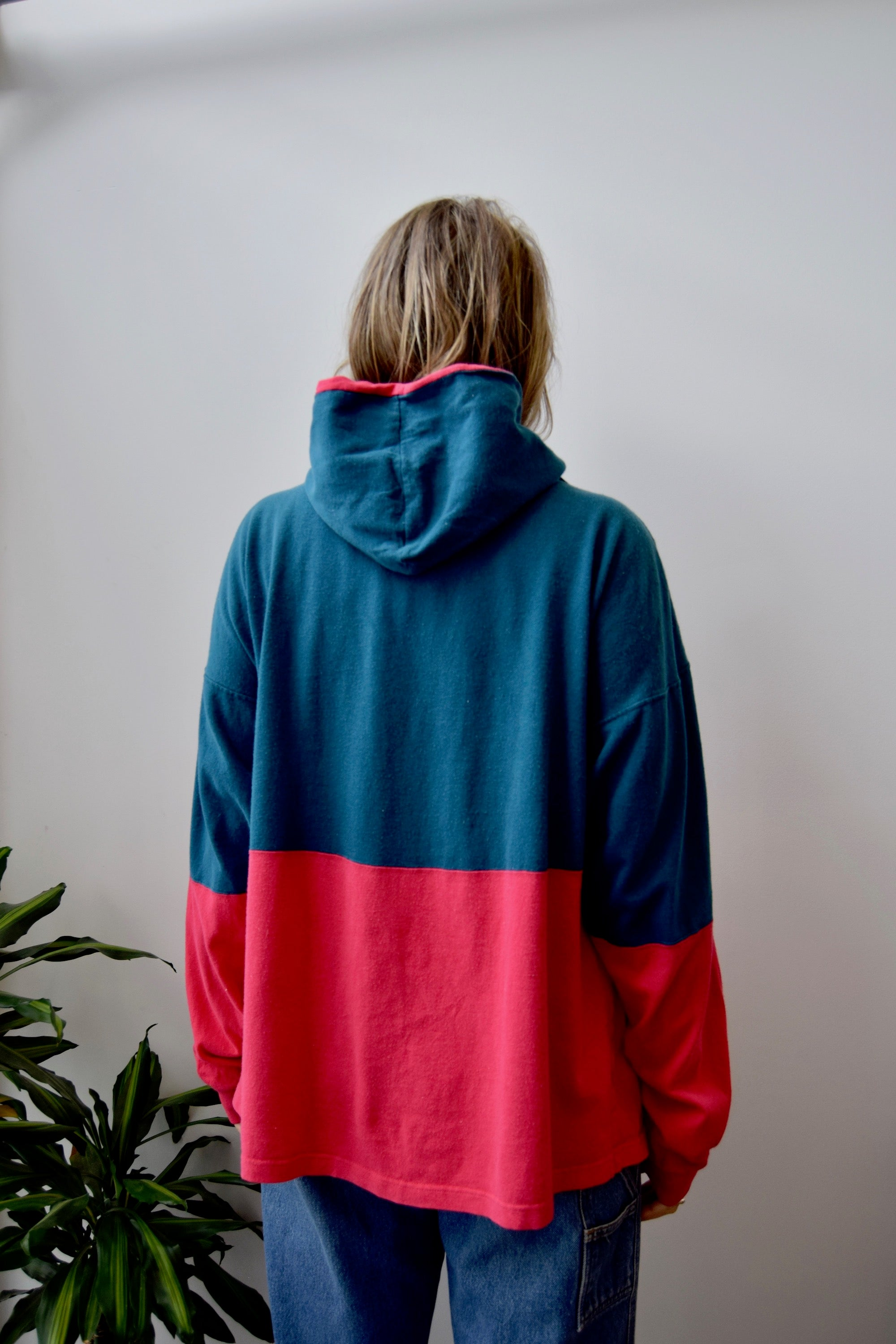 Nineties Champion Colour Block Hoodie