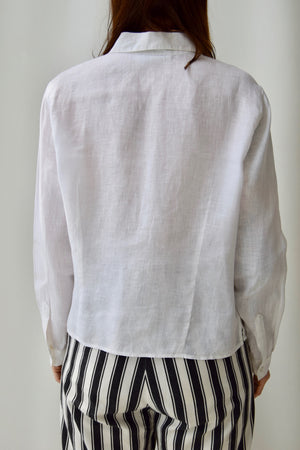 Embroidered Pleat Top