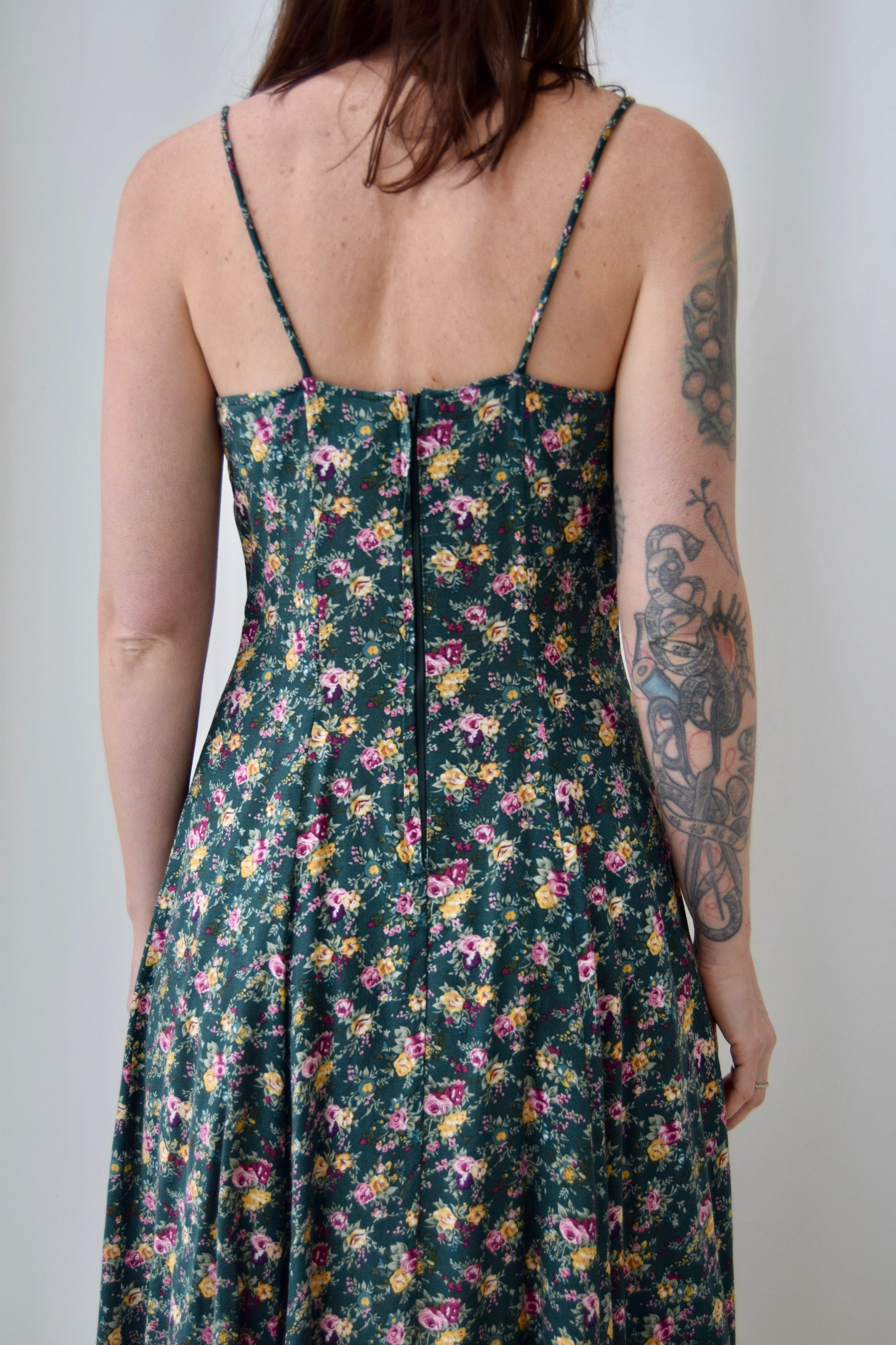 90's Forest Garden Rayon Dress