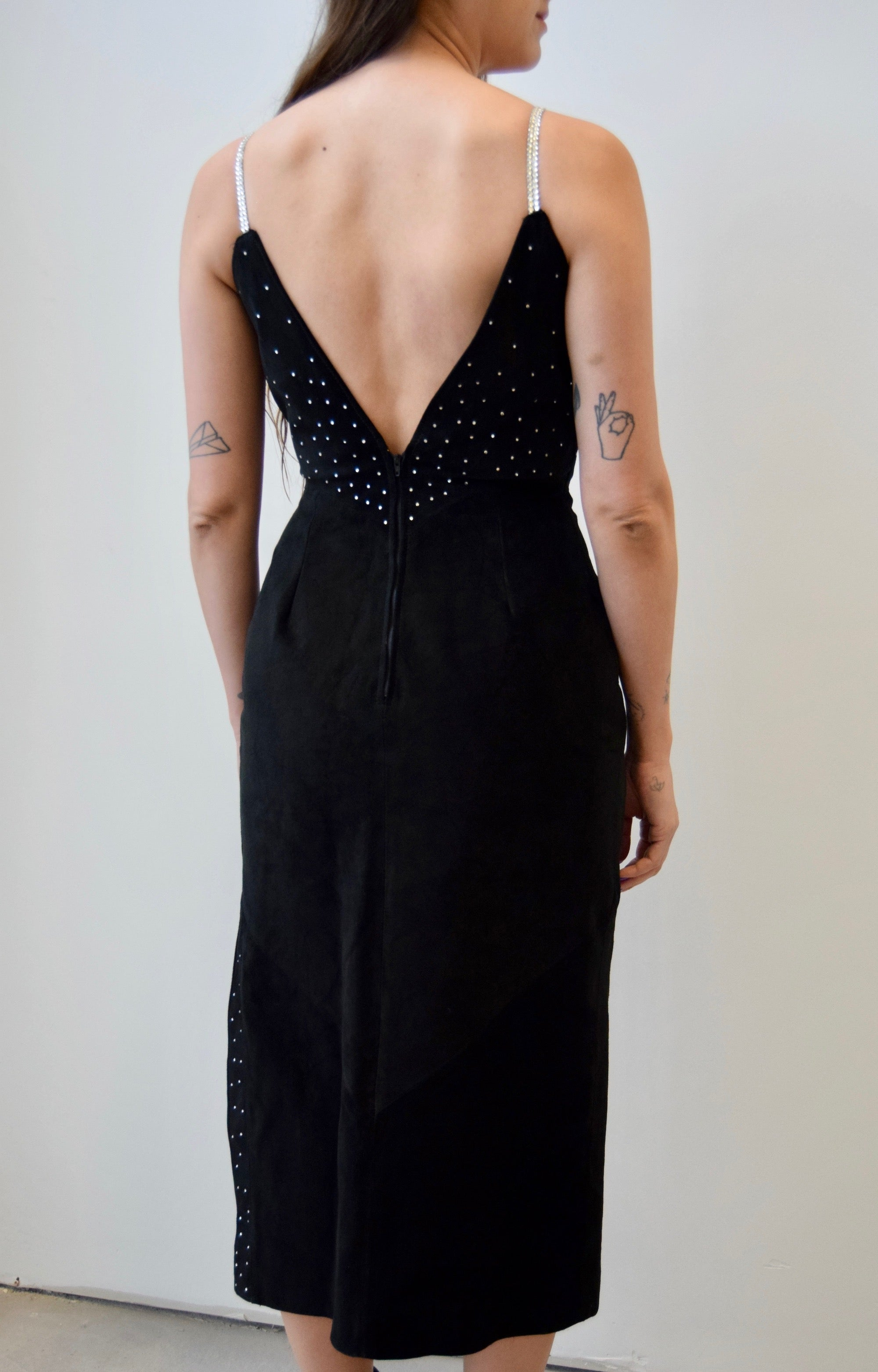 Black Suede High Drama Dress