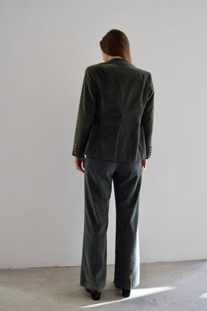 "Vintage 3 Piece ""Country Miss"" Moss Corduroy Suit"
