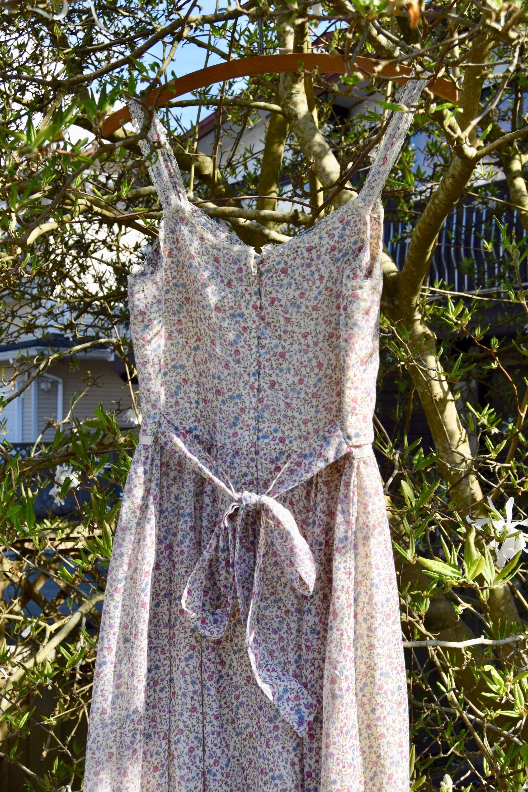"1970's Vintage ""Gunne Sax"" Wildflower Peasant Dress"
