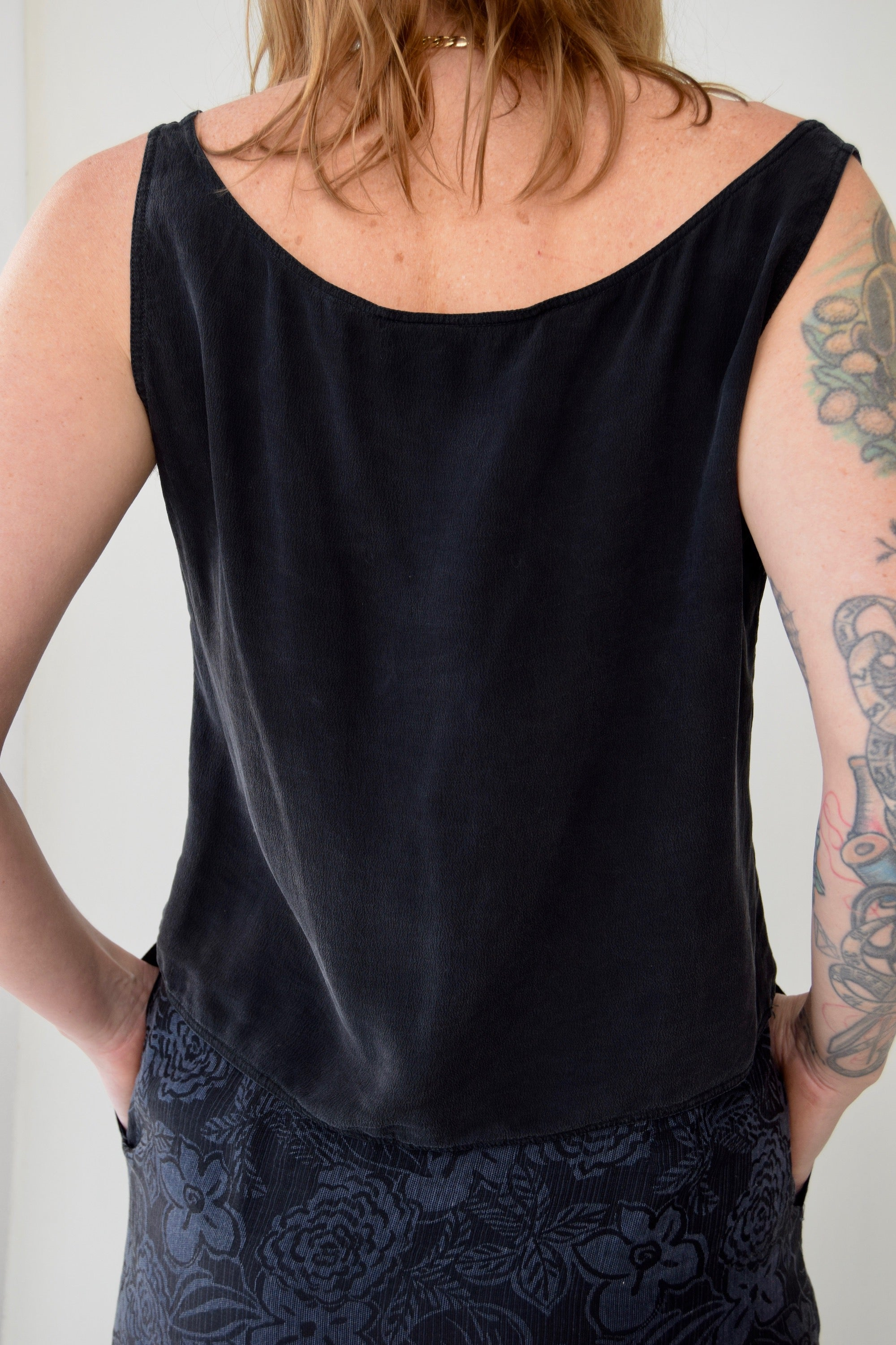 Vintage Valentino Boutique Silk Tank Top
