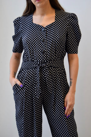 Sweetheart Polka Dot Jumpsuit