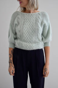 Vintage Hint ot Mint Angora Blend Sweater FREE SHIPPING TO THE U.S.