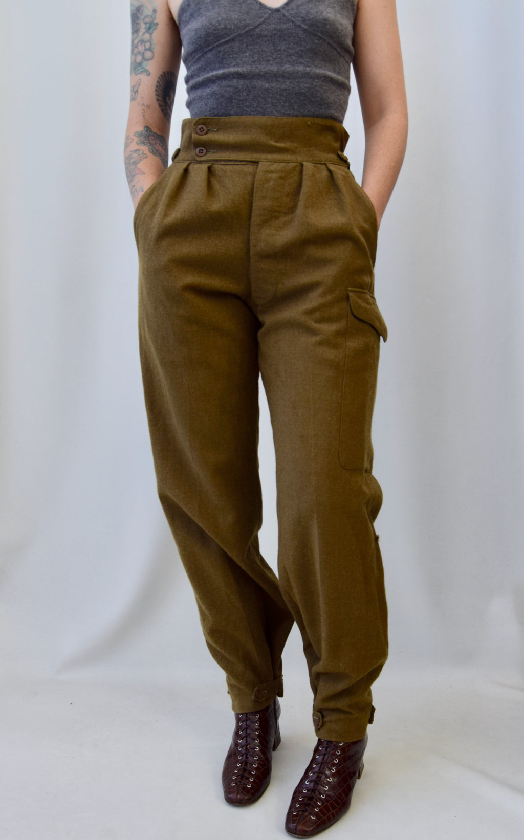 Vintage Wool Army Pants